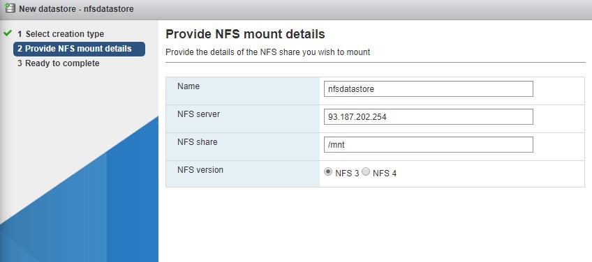 Ceph Datastore'u NFS olarak eklemek